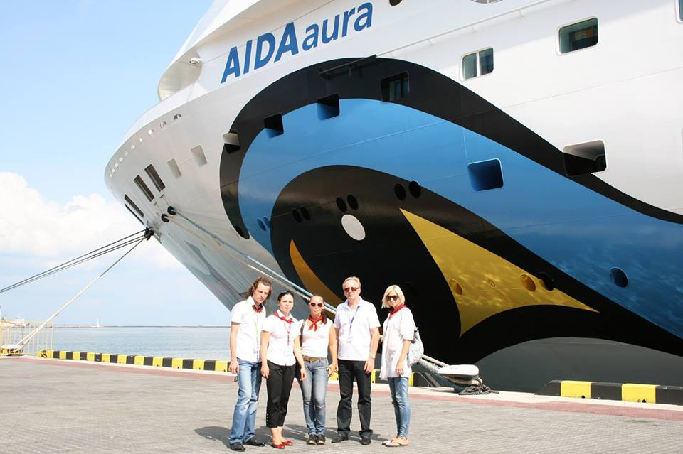 круизный лайнер Аида аура в Одессе