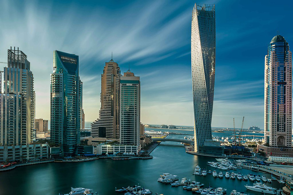 Дубай Марина и небоскребы